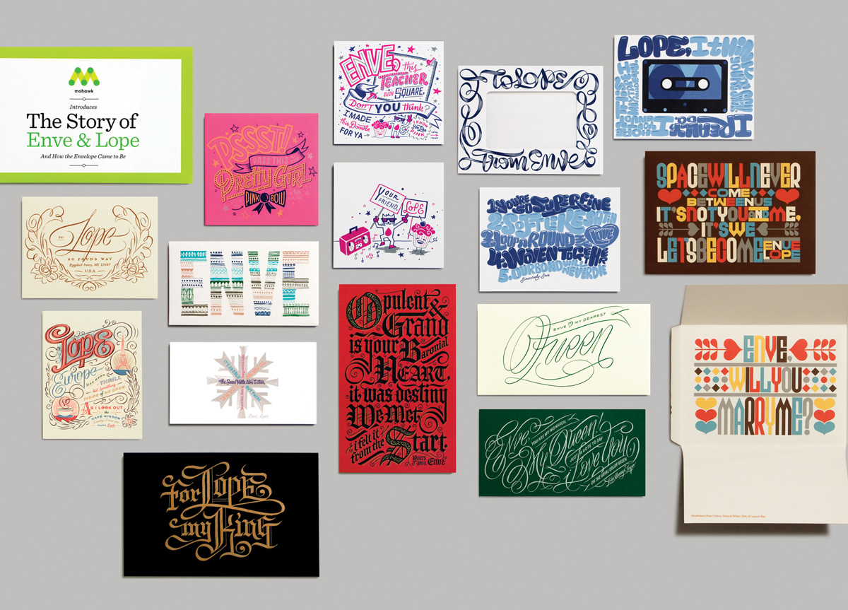 Envelopes and Inserts for Mohawk Fine Papers by Room 207 Design
