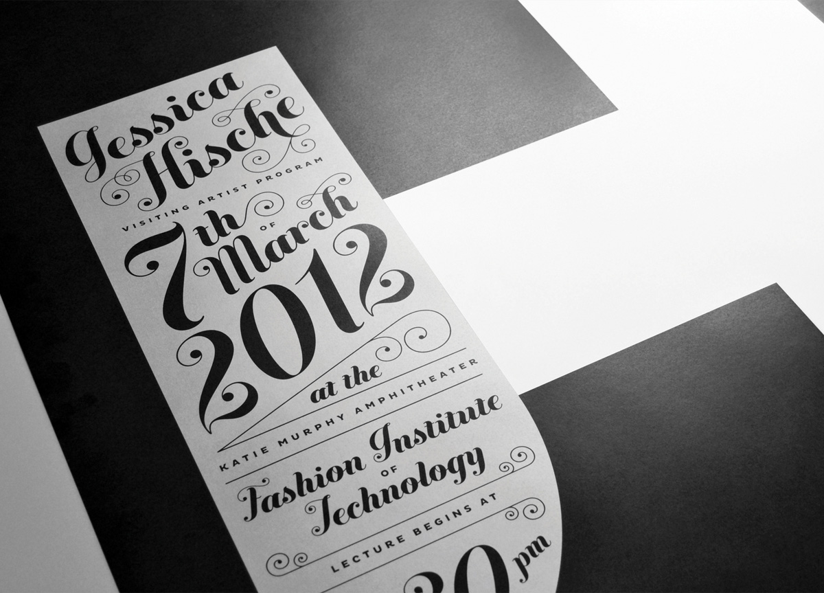 Poster for Fashion Institute of Technology by Piscatello Design Centre