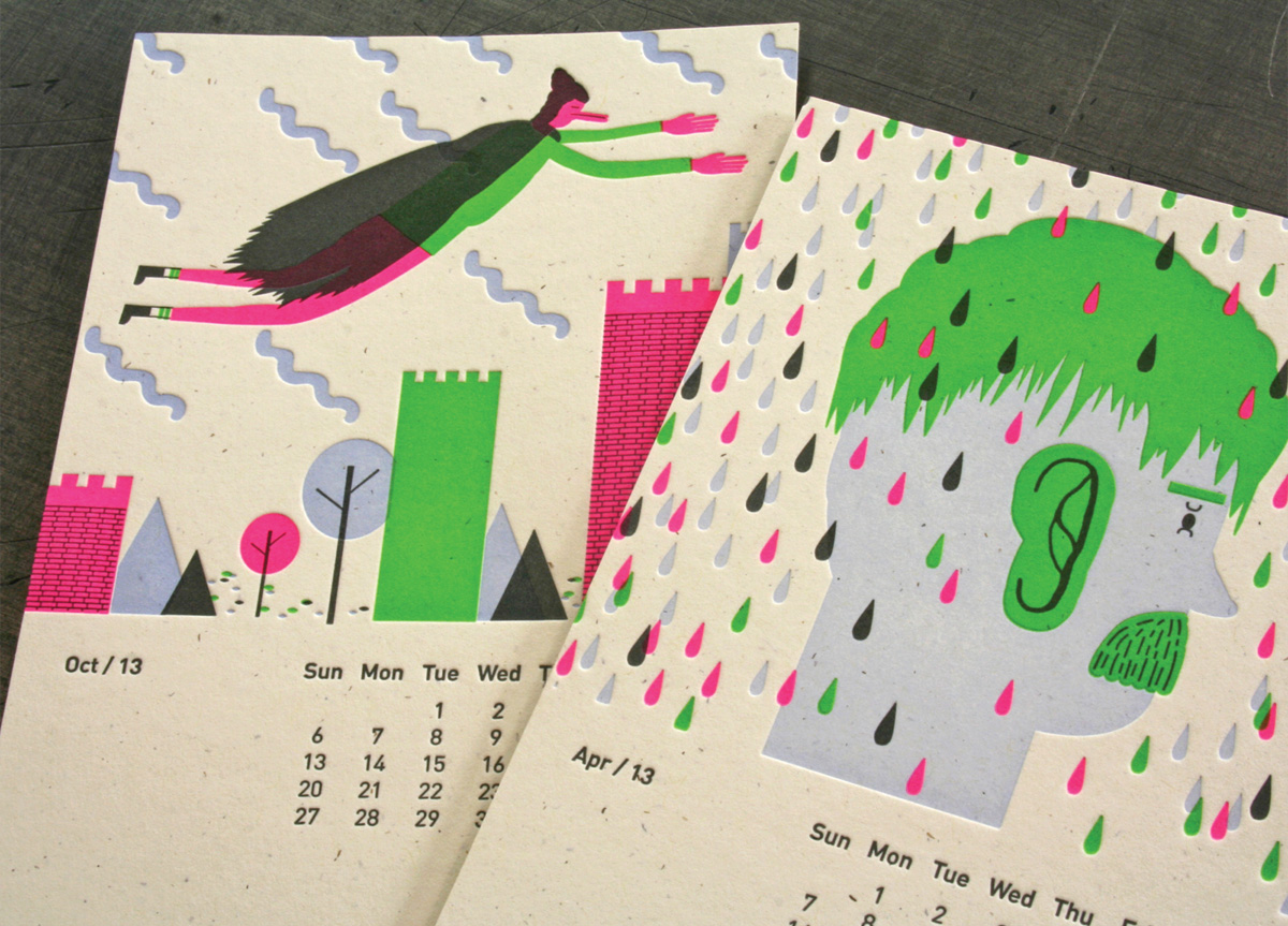 2013 Calendar for Self-promotion by Studio OnFire