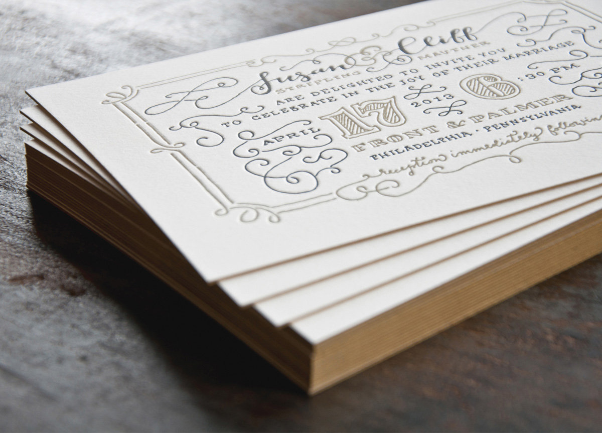 Wedding Invitation for Susan Stripling and Cliff Mautner by Two Paperdolls