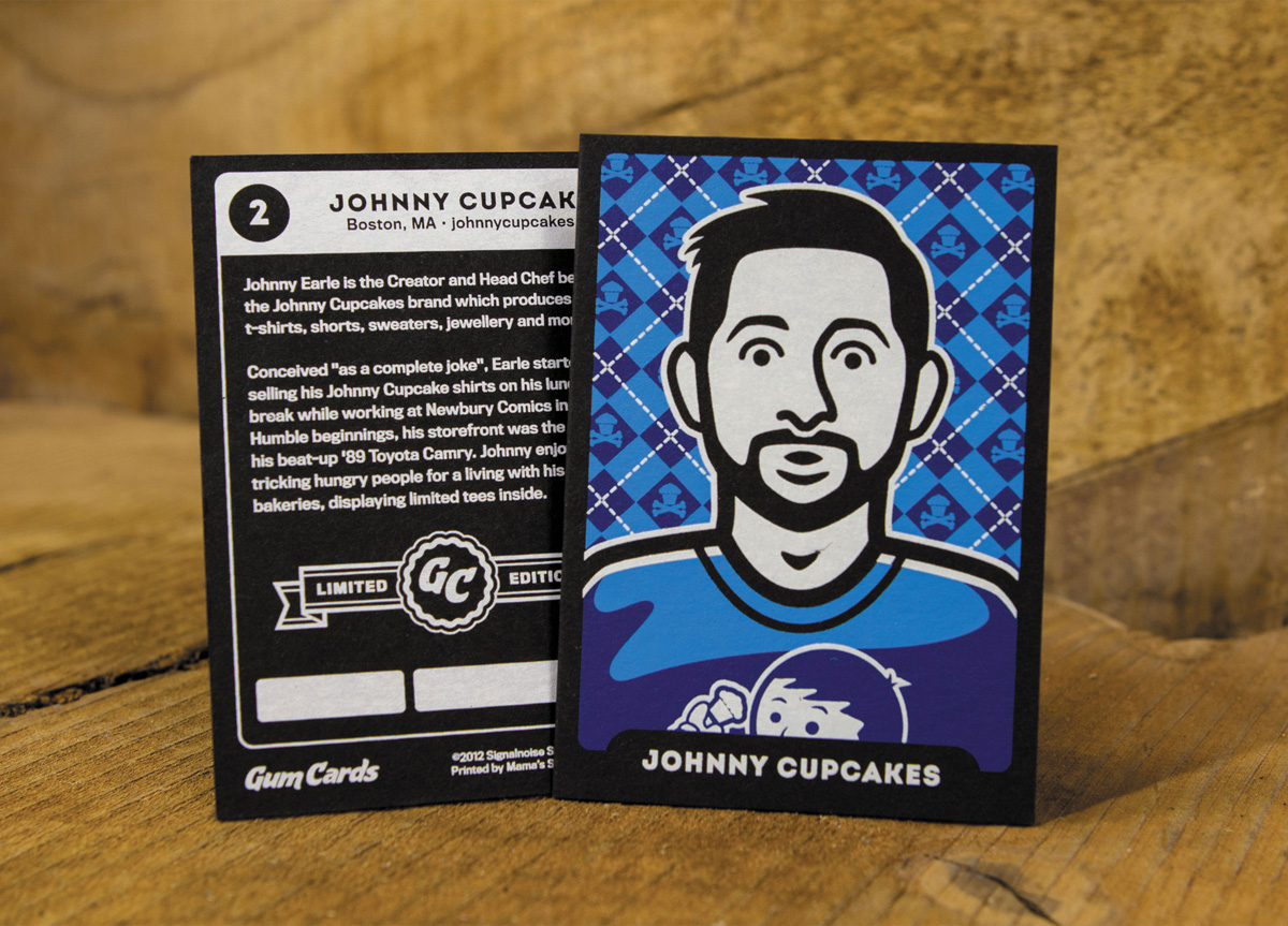 Trading cards for Self-promotion by Signalnoise Studio