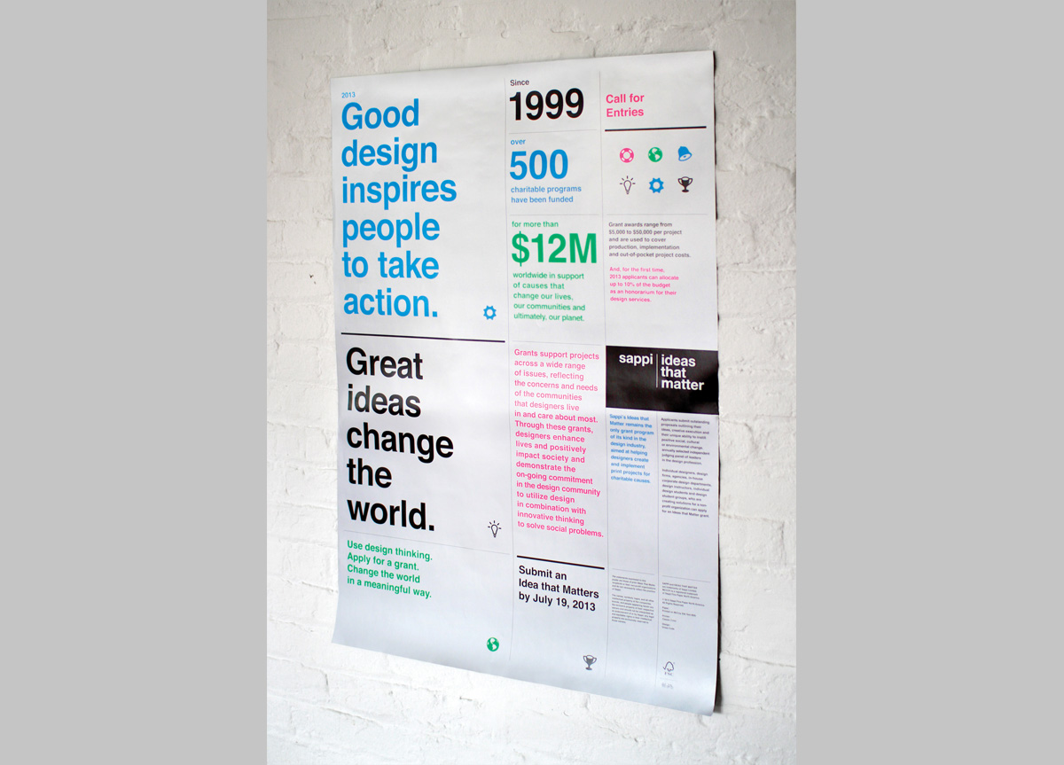 Poster/Mailer for Sappi Fine Paper – North America by Dress Code
