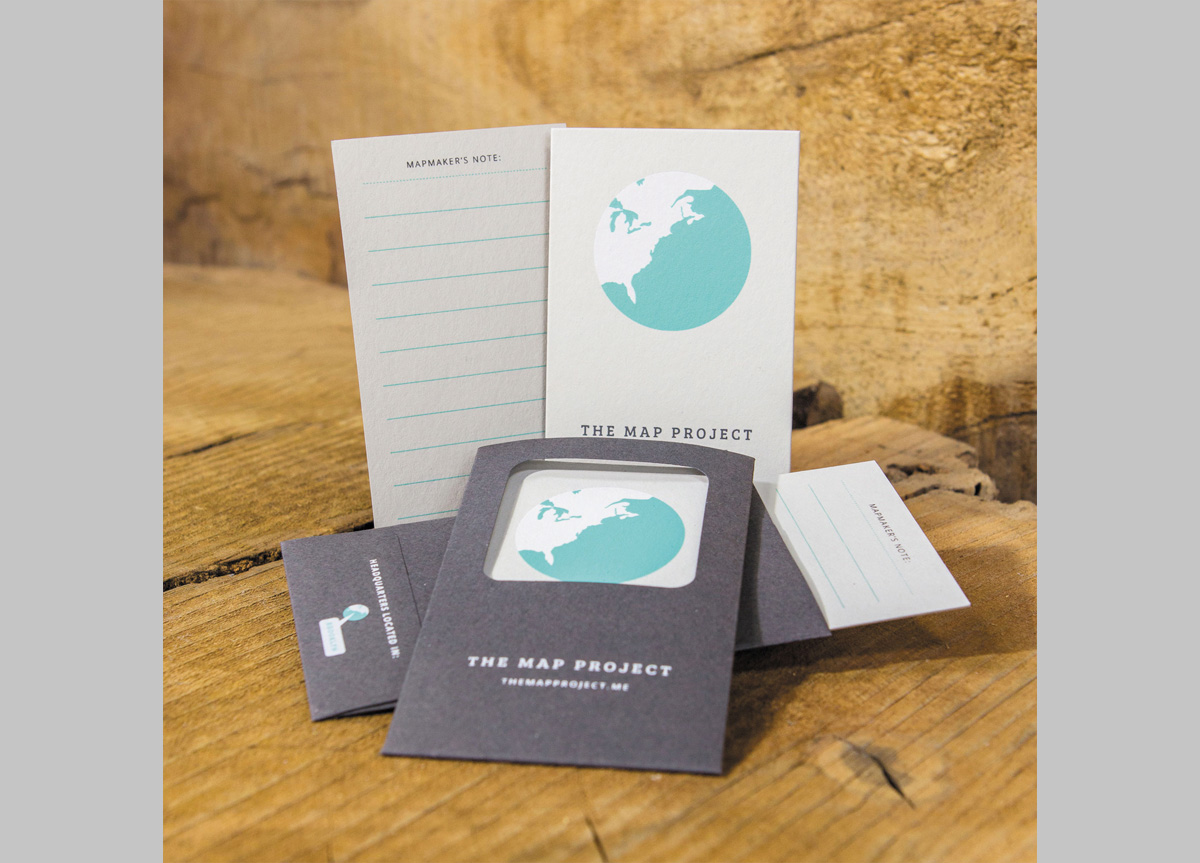 Business Cards for The Map Project by Dana Steffe and Samia Saleem