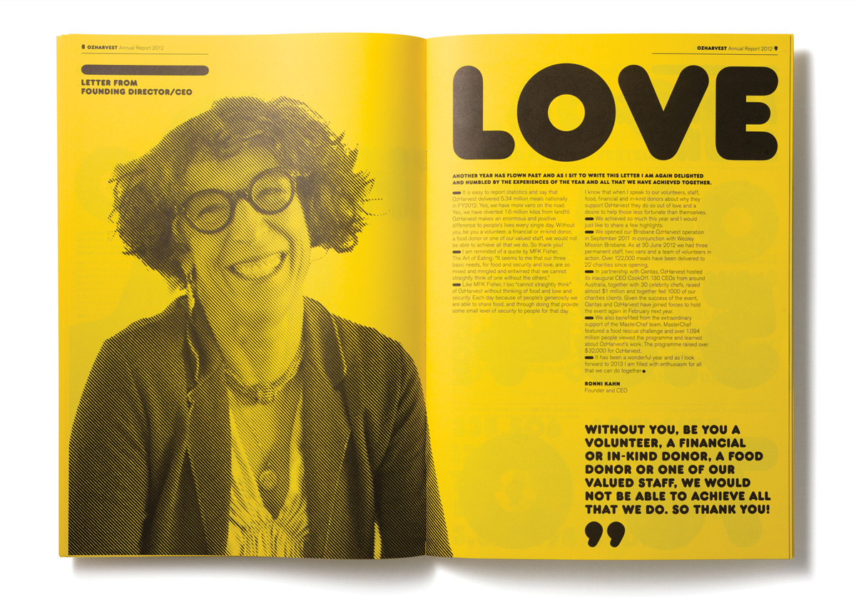 Annual Report for OzHarvest byFrost*