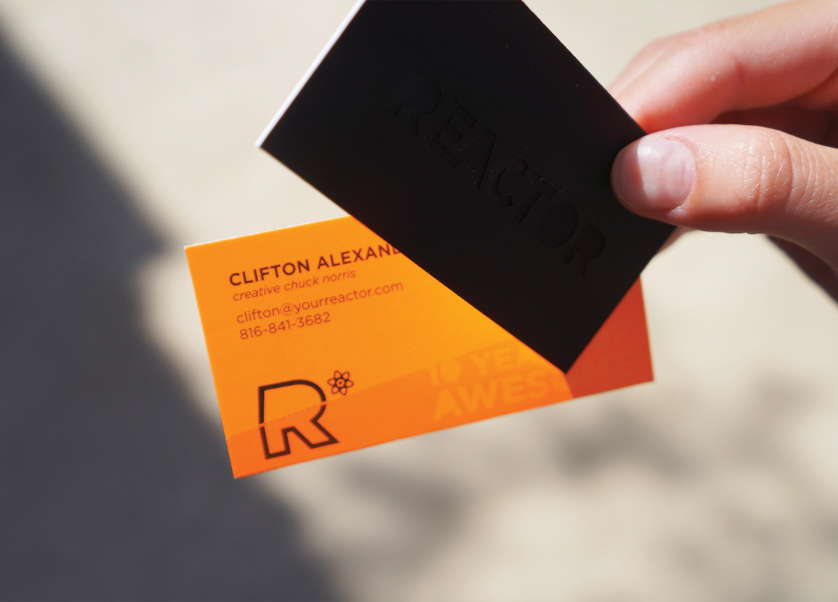 Business Card for/by REACTOR Design Studio