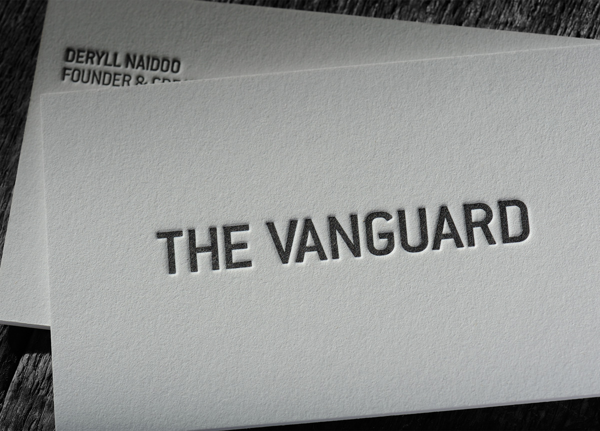 Business Card for The Vanguard Agency by Chapel Press