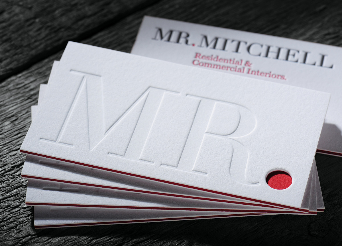 Business Card for Mr. Mitchell by Chapel Press