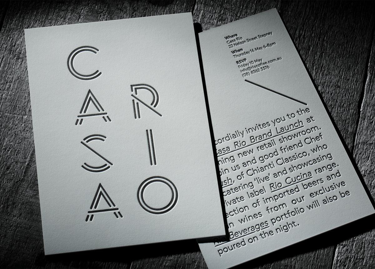 Invitation for Casa Rio by Chapel Press