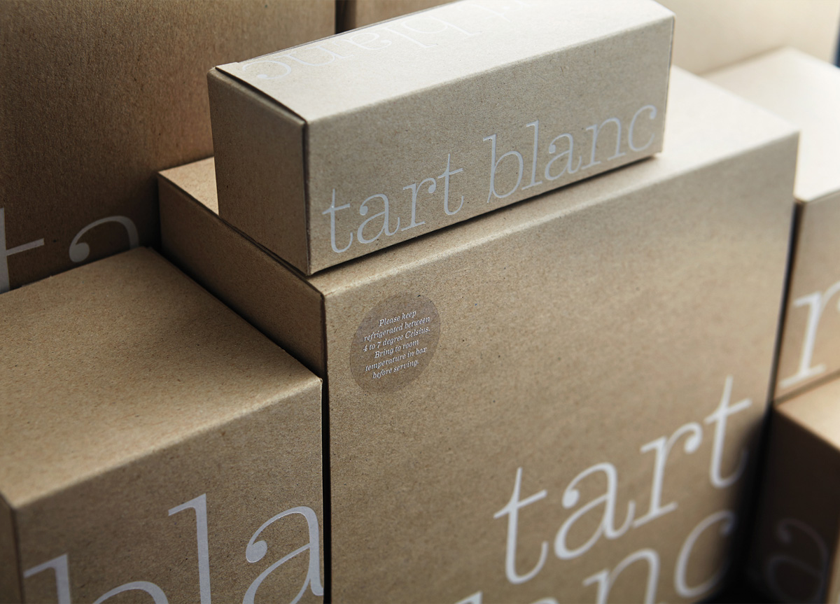 Packaging by Manic Design for Tart Blanc