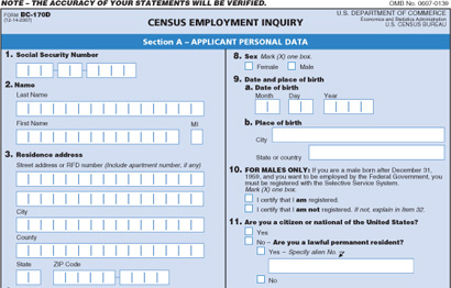 Census Employment Enquiry